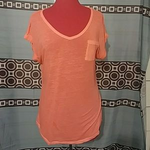 Orange almost see through top never worn